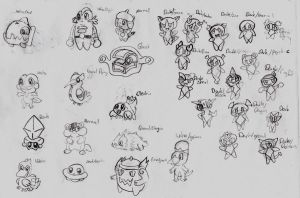 Fakemon Basic Sketches by ScoIipedes
