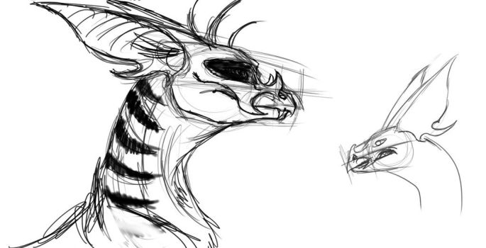 Dragon-Bat WIP by AwesomePonyTail