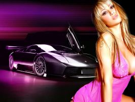 Sexy girl and lamborghini by delysidlsd