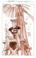secret files: Superboy Inks by manapul