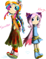 Sweetsu and Khaya slight redesign by HezuNeutral