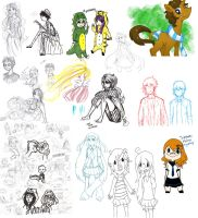Bunch of old sketches by PickledCandyPants07