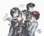 The Goths Kids about to beat up the Vampire Leader by erondagirl
