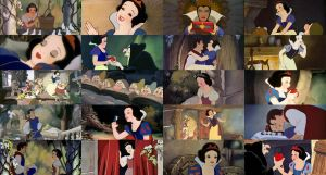 snow white and the seven dwarfs by Midnightrosesblood