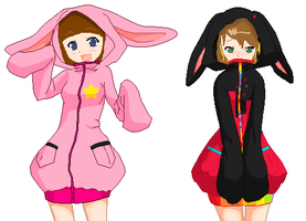 collab: bunny hoodies by sootaloo
