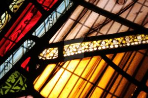 stained glass window at tynemouth priory by ulfthewolf
