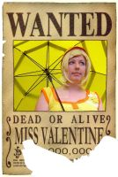 One Piece - Wanted 'Miss Valentine' by das-Diddy
