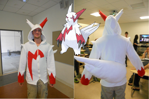 Zangoose hoodie by HereticalSun