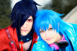 Aoba + Koujaku Cosplay, Dramatical Murder by hakucosplay