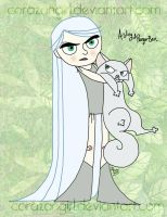 Aisling and Pangur Ban by corazongirl