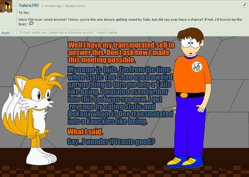 Sonic and Friends + Myself Question 56 by tmanfox7