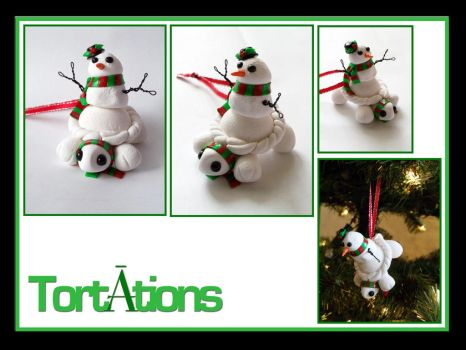 Frosty the Tiny Tort Christmas Ornament by Tortations