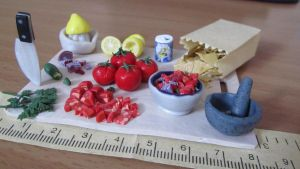 Mexican Salsa Preparation Board -with credits by damnheliotrope