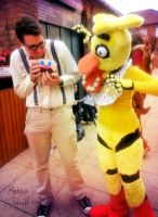 Chica Scares Wilford Warfstache by Mokka-Quill