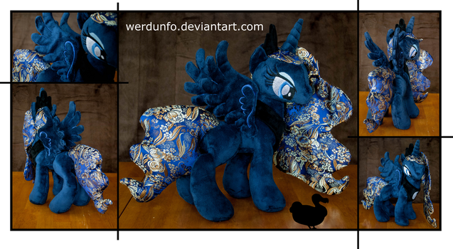 Brocade Plushie Sisters: Luna (For Sale) by weRDunfo