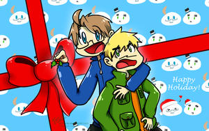 USUK Holiday Wallpaper (FREE to Use) by NSYee36