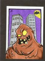 Clayface sketch card by johnnyism