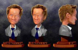 Barney Stinson Bust Sheet by iEvEtS