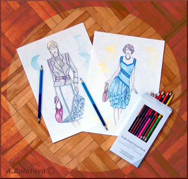 The selection of sketches for the new collection 8 by AnnaZLove