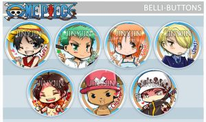 One Piece Buttons by jinyjin