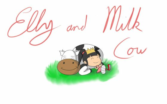 Elly and Milk Cow by Rubedo-Kukai
