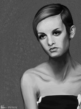 Twiggy / Krita Painting by theclumsyandshy