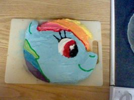 Rainbow Dash Cake by SAHikari