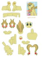apple strudel papercraft by DryRouteToDevon