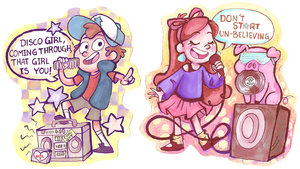 Singing Mystery Twins by sharkie19