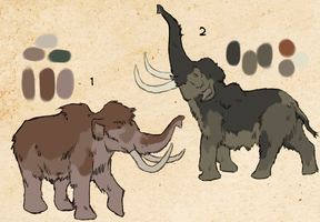 Mammoths (Closed) by Pred-Adopts