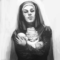 Nun with baby by shaolinfeilong