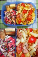 mac n cheese apple choco bento by plainordinary1