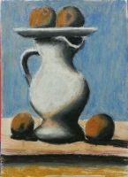 Pablo Picasso - Still Life With Pitcher And Apples by SpeedFreak03