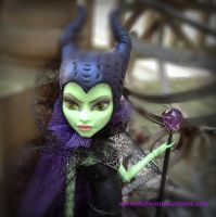 Maleficent Monster High Custom by DarkEyedDeviant