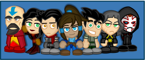 Chibi Legend of Korra by LegendaryFrog