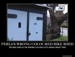 Let's argue about the wrong coloured bike shed by KatrinaTheLamia