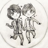 frerard chibies by Silverleopard