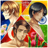 APH: The Magnificent male!trio by Kay-I