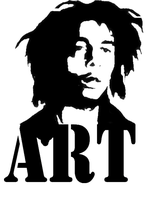 bob marley stencil by ARTpulse