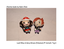 Leaf and Gary Charms by Kamiflor