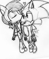 Sonic and Sally sribbly!! by HollyBjeam