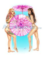Parasols Colored by NicoleBrune
