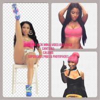 PACK PNG NICKI MINAJ VIDEO ANACONDA by SuperBassPngs2