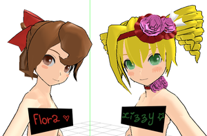 MMD WIP- Flora and Lizzy by youkou-chan