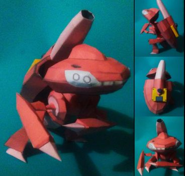 genesect shiny papercraft by jorgeescalante