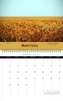 Manitoba Canada Calendar April by Joe-Lynn-Design
