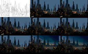 Step by step - Coruscant by CeciliaGf