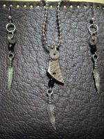 .necklace + feathers :for sale by SPWilder