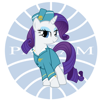 Stewardess Rarity: Pan Am by CrimsonLynx97