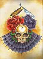 flash - skull and roses by monjesse